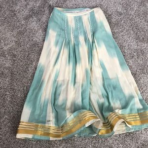 Teal and Cream Maxi Skirt